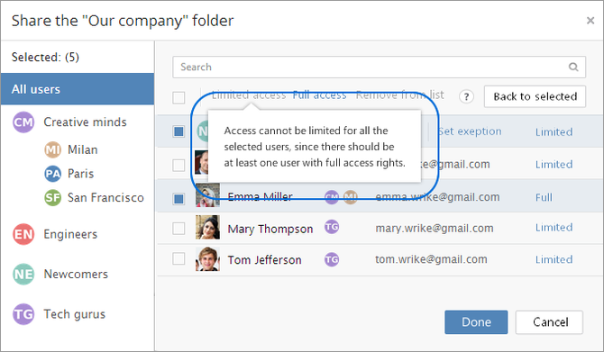 Wrike Enterprise Folder Permissions Full Access Last User
