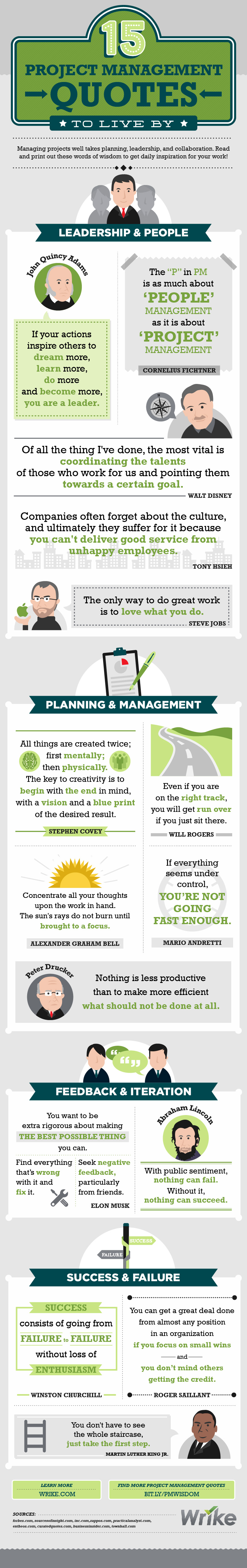 15 Inspirational Project Management Quotes to Live By #infographic